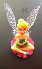 SITTING ON BASE  Tinkerbell Fairy Figurines Ornament cake Topper or garden