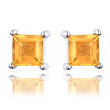 Jewelrypalace Square 0.6ct Natural Citrine 925 Sterling Silver Stud Earrings