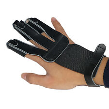 Archery Bow String Finger Guard Tab Protective Glove Cow Leather ArcheryShooting