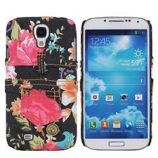 Für Samsung Galaxy S4 Tasche Case Cover Etui Schutz Hülle Handy Jeans Blumen