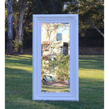 Wooden Europe palace style Embossed Wall Mirror White frame 111CM X 57CM