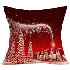 Christmas Sky Shining Pillow Case Sofa Waist Throw Cushion Cover Home Decor Gift