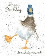 Wrendale Designs Happy Birthday Greeting Card NEW Duck to a party animal