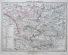 Sohr-Berghaus: Orig. altkol. Kupferstich Landkarte Brandenburg Berlin; 1850