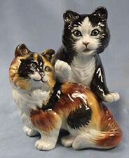 Katze Katzenfigur Porzellanfigur ens  Porzellankatze porzellan Katzenpaar bunt