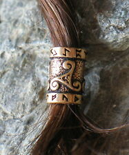 Hair Beard Bead Ring Bronze viking celtic northman dreadlock Trikele Runes