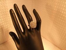 18ct gold, 1ct diamond ring. Cluster ring. Size N. Jewellery. Valentine.