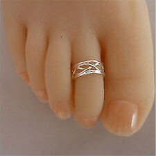 2016 New Celebrity Fashion Simple Sliver Plated Adjustable Toe Ring Foot Jewelry