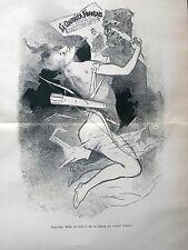 Symbolische Affiche (Plakat) von CHERET. Lithografie von 1907: 40x27,5 cm.!!!!!