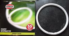 2 pack EverReady 55w fluorescent round tube circular flourescent light bulb 32cm
