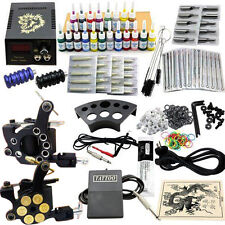 Complet Tattoo Kit de Tatouage 2 Machine Guns à Tatouer 20 Encre JM12 Germany