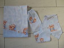 2-tlg Baby Bett Set Himmel Nestchen Bettausstattung Zöllner blau Bären neuwertig