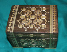 Vintage jewellery box wooden box from the 1980's, lovely