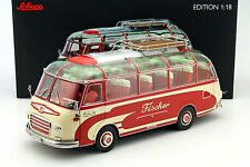 Setra S6 Fischer Reisebus rot / beige 1:18 Schuco