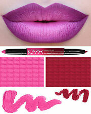 NYX OMBRE LIP DUO - HOLLYWOOD & WINE - HOT PINK & DEEP RED-VIOLET LIPSTICK LINER
