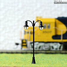 10 x OO / HO gauge Model Railway train Lamp posts Led street light Lamps #QF02