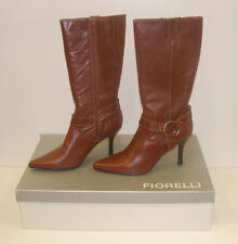 FIORELLI WOMENS POINTY WINTER BOOTS TAN 7.5 LEATHER LADIES MATANA WSK rrp$279.95