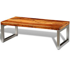 Industrial Coffee Table Reclaimed Solid Wood Vintage Retro Style End Living Room