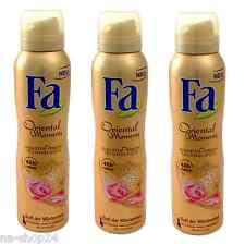 (15,53€/L)3x 150ml FA Deodorant Oriental Moments 48h frische Duft der Wüstenrose