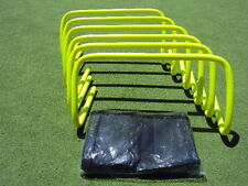 """Micro Agility Hurdles 9"""" set of 6 with free carry bag"""