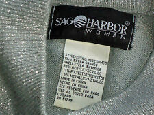 SAG HARBOR SilverS/sMetallicMixPartyKnit Size1X as NEW