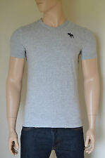 NEW Abercrombie & Fitch Classic V-Neck Moose Tee T-Shirt Grey L