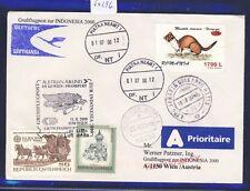 50296) LH / AUA SF Wien - Frankfurt - Djakarta 11.8.2000, Rumänien Tiere