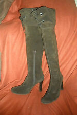 DANIEL BROWN LEATHER HIGH HEEL OVER THE KNEE HIGH BOOTS UK 7 EUR 40