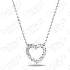 925 Sterling Silver Love Heart Charm Cubic Zirconia CZ Crystal Necklace Pendant