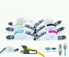 2x Usb schnell Ladekabel Datenkabel 2in1 lightning + micro Usb Turboladung TOP