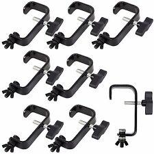 8 x Rhino Heavy Duty Black 50mm Steel Truss G Clamp Hook Bracket for Lighting