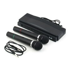 Professional Wireless Microphone System Dual Handheld 2 x Mic Receiver TG