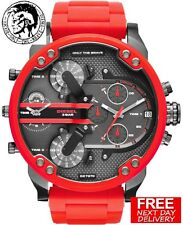 100% NEW DIESEL DZ7370 57MM MR.DADDY MEN'S RED MULTIPLE TIME CHRONOGRAPH WATCH