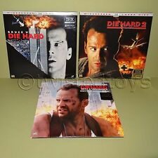 1995 FOX VIDEO DIE HARD 1 2 3 TRILOGY SPECIAL WIDESCREEN EDITION LASER DISC LOT