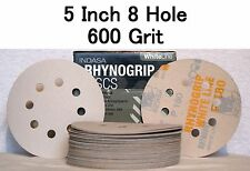 5 inch 8 Hole Hook and Loop 600 Grit Sandpaper Discs 50/box