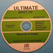 Recovery & Repair CD 2016 für Windows 10, 8, 7, XP 32 & 64 bit, Datenrettung