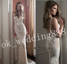 New Ivory Wedding Dress Mermaid Sweetheart Lace Backless Bridal Gown 2016 Spring