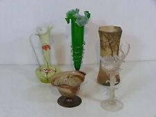 5x Glas Frankreich Jugendstil Vase Art Nouveau Vendig Bayerischer Wald