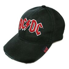 AC/DC Black Baseball Cap with Red Logo Officially Licensed NEW! Rock or Bust