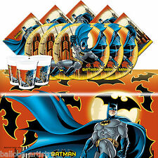 DC Comic Batman Night Children's Birthday Complete Party Tableware Pack For 8
