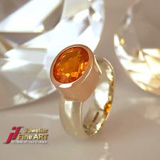 Ring 375/-9k Weißgold & Rotgold mit Feueropal