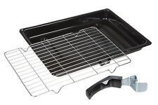 Universal Oven Cooker Grill Pan Tray with Detachable Handle & Rack 380mm x 280mm