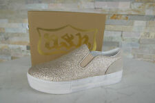 orig ash Size 41 Platform Slipper Shoes Glitter Glitter platinum new
