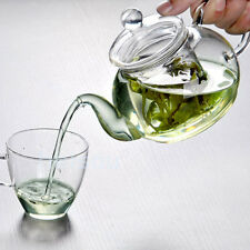 Resistant Bottle Glass Teapot with Infuser Coffee Tea Leaf Home 350ML
