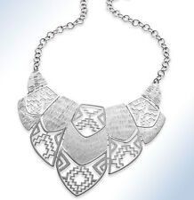 Style&Co Silver-Tone CUT-OUT DESIGN Bib Necklace