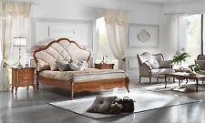 Luxus Bettgruppe Giulietta Furnier Nussbaum italienische klassische Stilmoebel