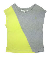 French Connection Girls T Shirt top Yellow Grey 5 Years