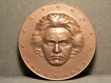 Beethoven 1927 Medaille - Kupfer - Relief - 28,9g - 40mm