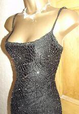 EXQUISITE ❤️ KAREN MILLEN £350 Black Gatsby 20's  Beaded Dress Size 6 8 10