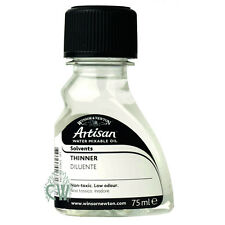 Winsor & Newton Artisan Water Mixable Oil Paint Thinner 75ml. Artists.